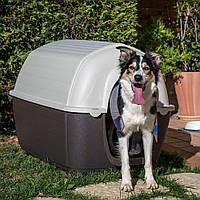 Пластиковая будка для собак KENNY 07 Ferplast (Кенни Ферпласт) в форме иглу, 80*111,6*80 см