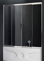 Штора для ванны Atlantis 160-180*150 прозрачное стекло