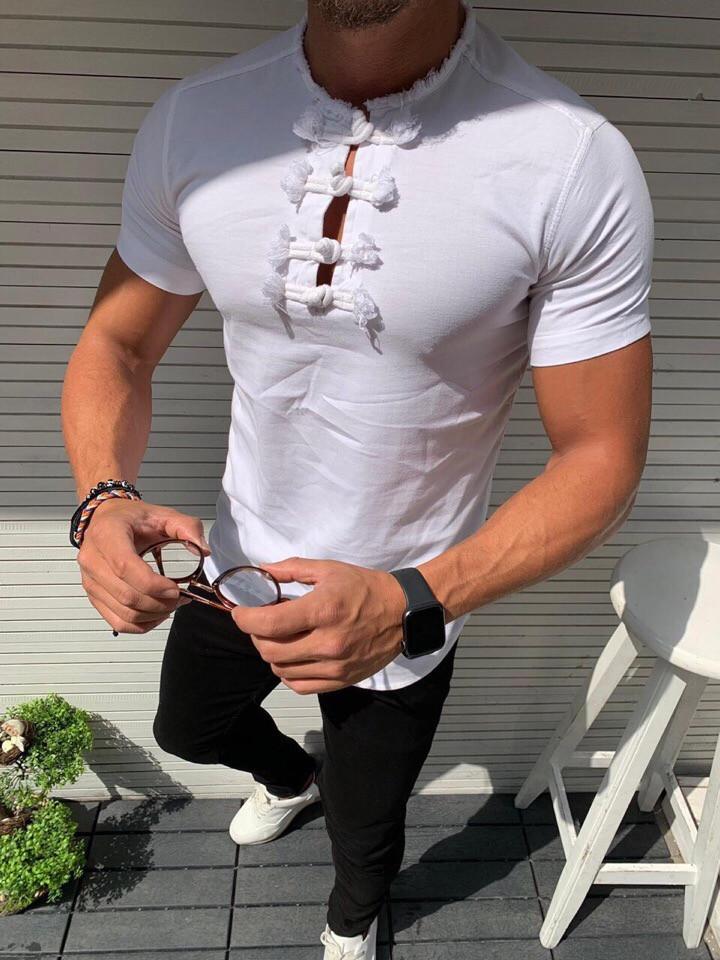 """Мужская рубашка без бренда""""White"""""""