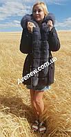 Женская зимняя парка с натуральным мехом песец, фото 1