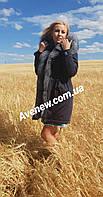 Женская зимняя парка с натуральным мехом чернобурка, фото 1