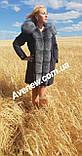 Женская зимняя парка с натуральным мехом чернобурка, фото 3