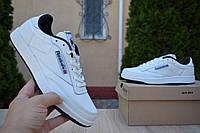 Мужские кроссовки в стиле Reebok Classic Workout белые с синим