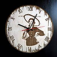 Настенные деревянные часы Shasheltoys Диаметр 35 см (090137)