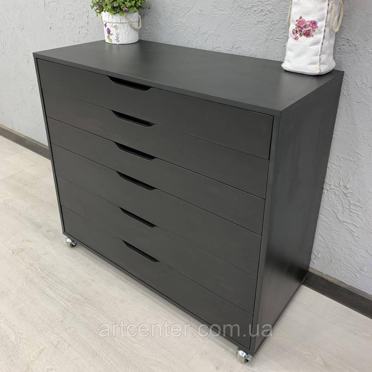 Универсальный комод черного цвета