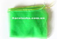 Сетка овощная 20кг с ячейкой 2мм зелёная (40х65) с завязкой (100 шт)