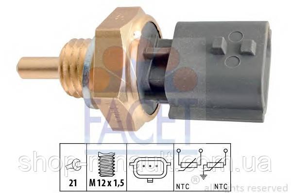 Датчик температуры охлаждающей жидкости (3 контакта, серый) Logan (faza 2) / Lada Largus FACET 7.3365