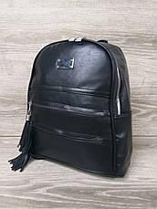 Женский рюкзак из искусственной кожи, две молнии на лицевой части, 1 отдел, регулируемые ремни, фото 2