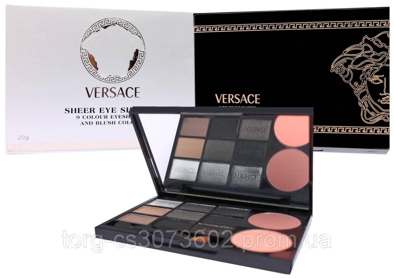 Тени для век и румяна Versace Sheer Eye Shadow 9 colour Eyeshadow and Blush color