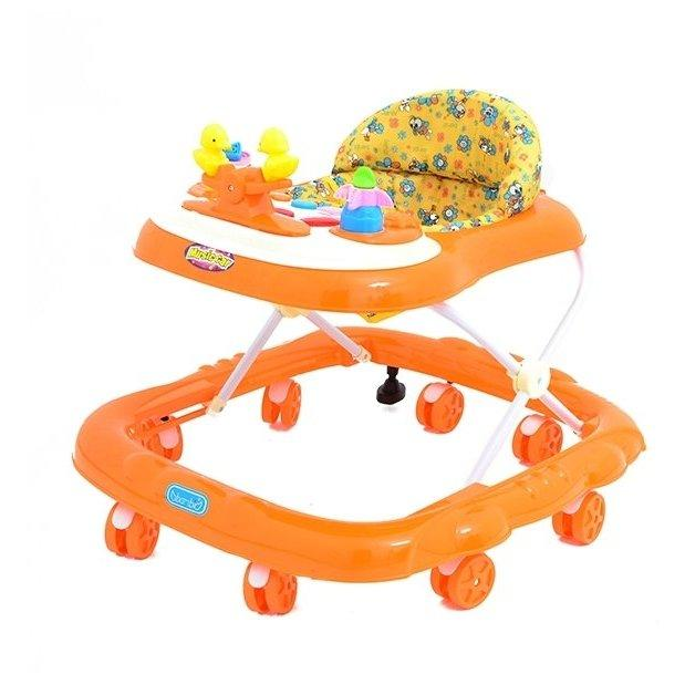 Детские ходунки M 2057, оранжевые