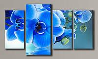 Модульная картина Синие орхидеи 55х96,5 см (HAF-091)
