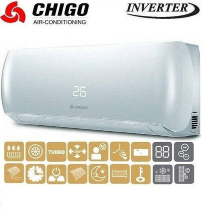 Кондиционер- Chigo Lotus 156 Inverter New (-15°C) CS-25V3A-V156, фото 2
