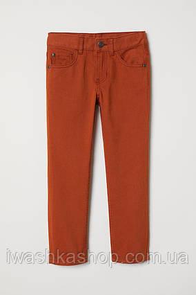 Модные коричневые брюки чинос из твила для мальчика 8 - 9 лет, р. 134, H&M