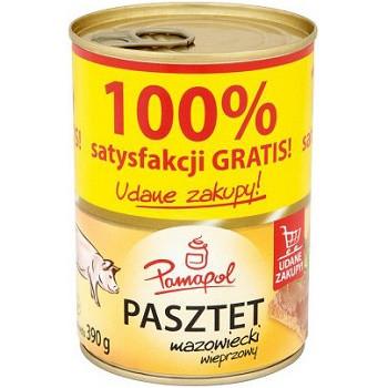 Паштет свиной Pamapol 100% Польша 390г