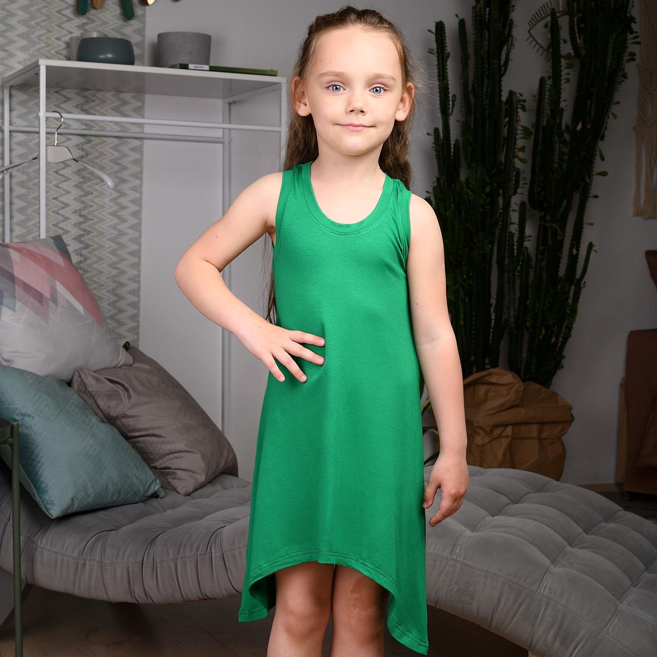 Сарафан летний для девочки Зеленый  |  Дитячий літній сарафан