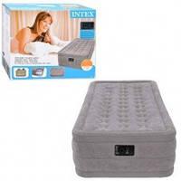 Велюр кровать Intex 67952 со встроенным насосом