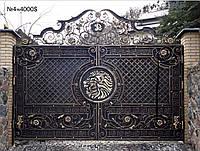 Кованый ворота распашные