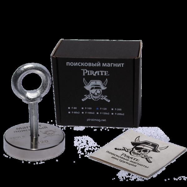 Поисковый магнит Пират F-120 + Трос в подарок!