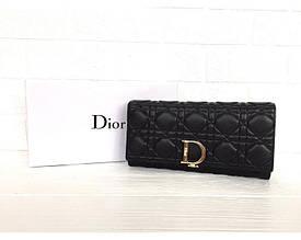 Женский кожаный брендовый кошелек (3755) black