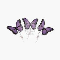 Фігурки з мастики - Метелики Преміум бузкові - 3 шт.
