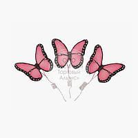 Фігурки з мастики - Метелики Преміум червоні - 3 шт.