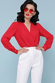 Модная блуза-боди Белый Размеры S, M, L, XL