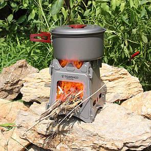 Туристическая титановая печь-щепочница (печка) Tomshoo Titanium. Титанова щепочниця.