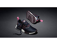 Женские кроссовки Adidas NMD R1 Legend Ink Black/Red S75232, Адидас НМД, фото 3