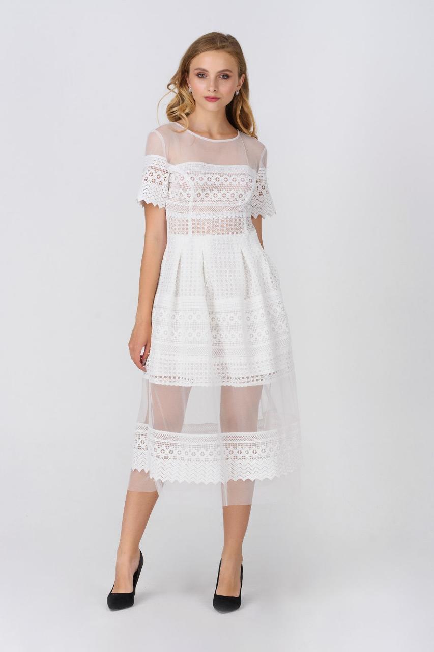Коктейльно-молочное платье Rica Mare