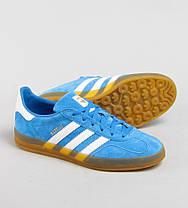 Мужские кроссовки Adidas Gazelle Indoor Blue B24974, Адидас Газели, фото 3