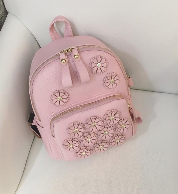 407527360f97 Детский маленький рюкзак с цветочками