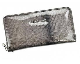 Женский кошелек Gregorio (F119) кожаный лаковый серый