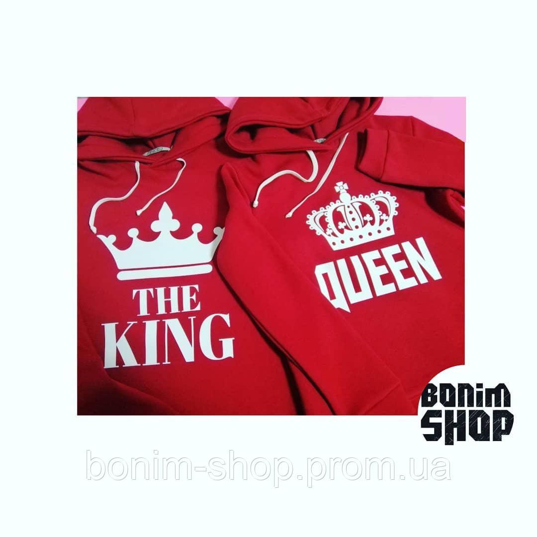 Красные толстовки King и Queen