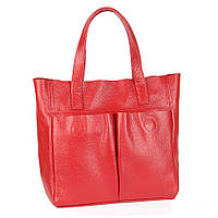 Кожаная сумка модель 2 красный флотар, фото 1
