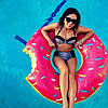 Надувной круг Пончик Pink 120см, Пляж и бассейн