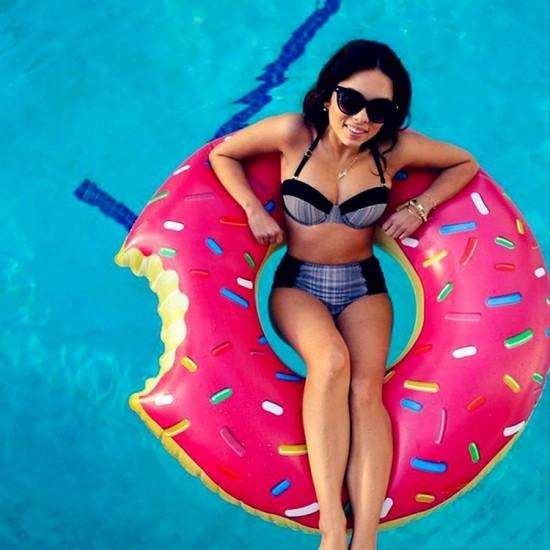 Надувной круг Пончик Pink 120см, Пляж и бассейн, фото 1