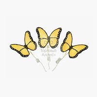 Фігурки з мастики - Метелики Преміум жовті - 3 шт.
