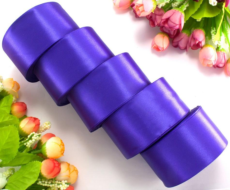 "(5 рулонов) Лента атласная 4см ширина (25 ярдов) ""LiaM"" Цена за блок Цвет - Фиолетовый"