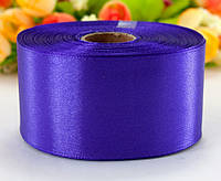 "Лента атласная 4см ширина (25 ярдов) ""LiaM"" Цена за рулон. Цвет - Фиолетовый"