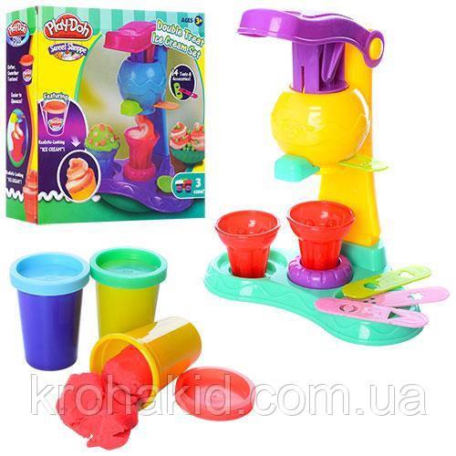 """Игровой набор для лепки Play-Doh  """"Мороженое"""" MK 1529 - Тесто / пластилин Плей До - аналог"""