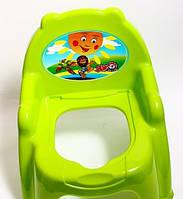 Детский горшок - кресло с крышкой ТехноК 4074 зеленый | горшок для ребенка