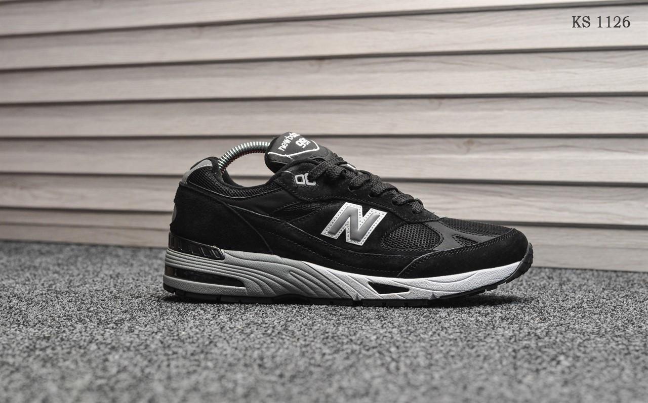 Мужские кроссовки New Balance 991 (черно-белые)