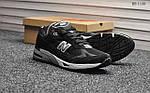 Мужские кроссовки New Balance 991 (черно-белые), фото 4