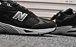 Мужские кроссовки New Balance 991 (черно-белые), фото 5