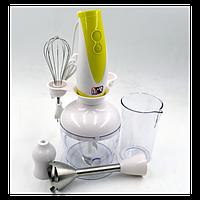 Ручной кухонный погружной блендер ProMotec PM-589 (3 in 1) с чашей   ручной миксер   кухонный комбайн, фото 1