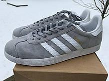 Женские кроссовки Adidas Gazelle W (Mid Grey/Ftwr White/Gold Metallic) BY2852, Адидас Газели, фото 2