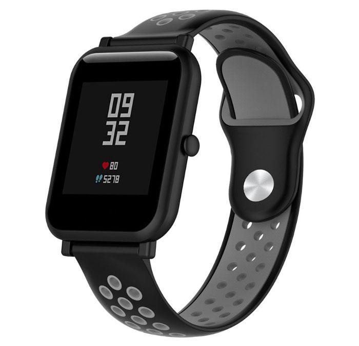 Спортивный ремешок Primo Perfor Sport для часов Xiaomi Amazfit Bip/Bip Lite/Amazfit Bip GTS - Black&Grey