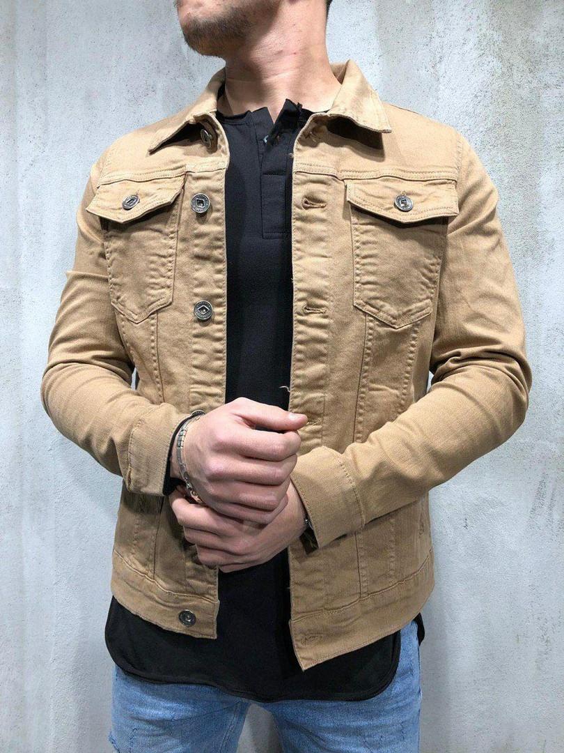 Мужской джинсовый пиджак (коричневый) - Турция