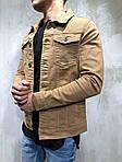 Мужской джинсовый пиджак (коричневый) - Турция, фото 3
