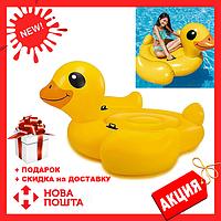Детский пляжный надувной матрас - плот INTEX  57556SH Уточка, 147-147-82 см | плотик